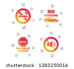 stop smoking and no sound signs.... | Shutterstock .eps vector #1383250016