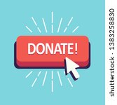 donate button red for donation... | Shutterstock .eps vector #1383258830