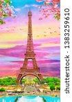 Original Oil Painting Of Eiffel ...