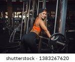 athletic beautiful white women... | Shutterstock . vector #1383267620
