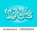 city los angeles  california.... | Shutterstock . vector #1383280343