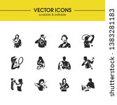 people icons set with student ... | Shutterstock .eps vector #1383281183