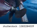 Propeller And Rudder Of Big...