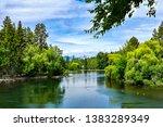 beautiful green bend oregon... | Shutterstock . vector #1383289349