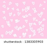 vector heart shape frame with... | Shutterstock .eps vector #1383305903