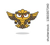 the logo with the owl. vector... | Shutterstock .eps vector #1383307340