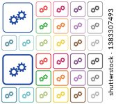 collaboration color flat icons... | Shutterstock .eps vector #1383307493