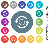 history flat white icons on... | Shutterstock .eps vector #1383307523