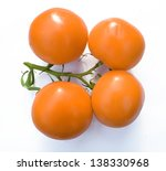 fresh tomatoes isolated on white | Shutterstock . vector #138330968