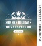 retro summer design poster.... | Shutterstock .eps vector #138333194