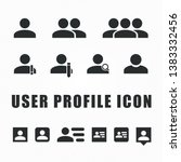 user profile icon with flat... | Shutterstock .eps vector #1383332456