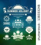 retro summer design elements.... | Shutterstock .eps vector #138333248