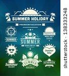 retro summer design elements.... | Shutterstock .eps vector #138333248