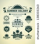 retro summer design elements.... | Shutterstock .eps vector #138333263