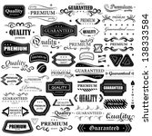 vintage design elements   set.... | Shutterstock .eps vector #138333584