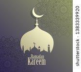 creative ramadan kareem islamic ... | Shutterstock .eps vector #1383339920