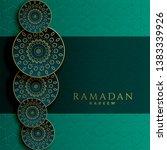 ramadan kareem islamic... | Shutterstock .eps vector #1383339926