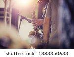 alto sax musical instrument...   Shutterstock . vector #1383350633