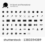 54 sports and recreational... | Shutterstock .eps vector #1383354389