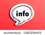 Info speech bubble isolated on...