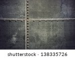 grunge metal background with... | Shutterstock . vector #138335726