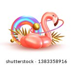 background with 3d objects ... | Shutterstock .eps vector #1383358916
