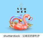 background with 3d objects ... | Shutterstock .eps vector #1383358919
