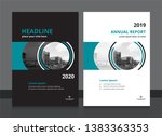 cover design and annual report... | Shutterstock .eps vector #1383363353