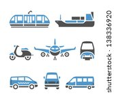 transport icons   a set of... | Shutterstock .eps vector #138336920