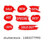 red blots stains of new tag... | Shutterstock .eps vector #1383377990