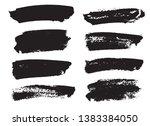 brush strokes set hand drawn... | Shutterstock .eps vector #1383384050