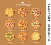 pizza set different menu... | Shutterstock .eps vector #1383395966
