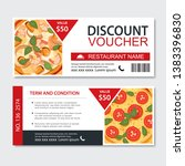discount gift voucher fast food ... | Shutterstock .eps vector #1383396830