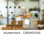 cafe blur background with bokeh ... | Shutterstock . vector #1383401543
