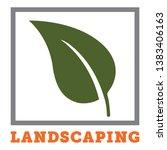 vector landscaping logo with... | Shutterstock .eps vector #1383406163