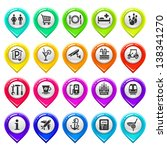 map marker with icons set one....   Shutterstock .eps vector #138341270