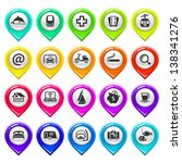 map marker with icons set four. ...   Shutterstock .eps vector #138341276