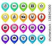 map marker with icons set three....   Shutterstock .eps vector #138341300