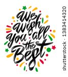 we wish you all the best.... | Shutterstock .eps vector #1383414320