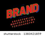 vector of stylized modern font... | Shutterstock .eps vector #1383421859