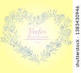 wreath of roses or peonies... | Shutterstock .eps vector #1383430946