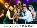 young people in club or bar... | Shutterstock . vector #138343166
