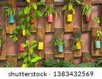 decorative pots of ornament... | Shutterstock . vector #1383432569