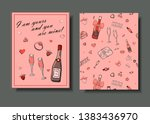 set of hand drawn templates... | Shutterstock .eps vector #1383436970