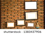 old blank frame with white... | Shutterstock . vector #1383437906