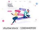 chat equipment  download tool ... | Shutterstock .eps vector #1383440930