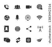 vector set of communication... | Shutterstock .eps vector #1383442316