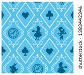 alice in wonderland seamless...   Shutterstock .eps vector #1383442346