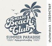 miami beach club   aged tee...   Shutterstock .eps vector #1383447869