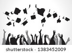 black and white university... | Shutterstock . vector #1383452009